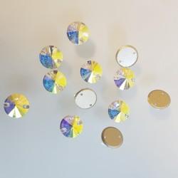 kámen našívací broušený 16mm crystal AB