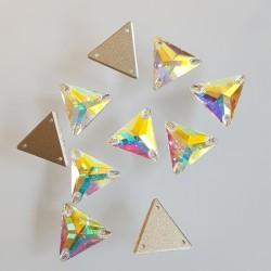 kámen našívací broušený 16mm crystal AB trojúhelník