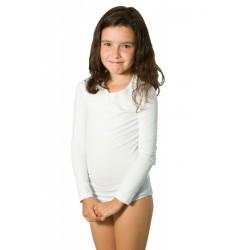 Body dětské s dlouhým rukávem a kulatým výstřihem