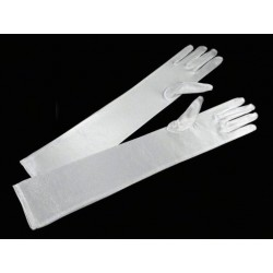 Rukavice společenské dlouhé bílé