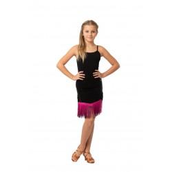Skirt LA pattern 3 black / gialo fluo