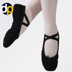 Cvičky HDS černé látkové baletní