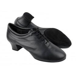 Pánské boty na latinu  VF pánské latinky CD9316 černá kůže 4cm