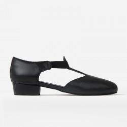 Rumpf Greek sandál černá kůže podpatek 1cm