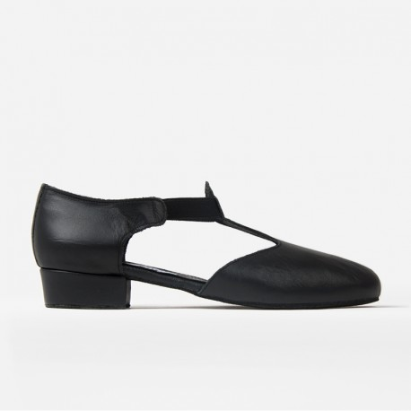 HDS JAZZ sandal black leather 1cm