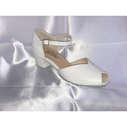 Dětské taneční boty Bábor mod.D10 Tělová kůže podpatek 3,5 cm kostka
