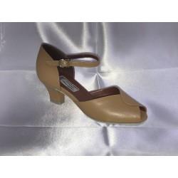 Dětské taneční boty Bábor mod.D10 Tělová kůže podpatek 5 cm D2 Cuban