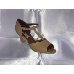 Dětské taneční boty  Bábor mod.D2 Tělová kůže podpatek 5 cm Cuban D2
