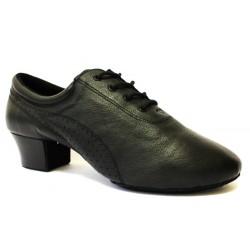 Pánské boty na latinu  HDS PLA002 černá Natur - V kůže podpatek 3,5cm