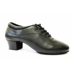 Pánské boty na latinu  HDS PLA001 černá Natur - H kůže podpatek 3,5cm