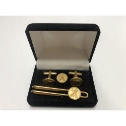 Gold box cufflinks