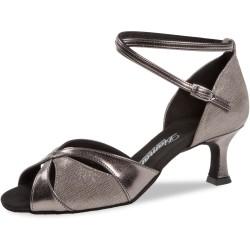 Dámské boty na latinu  Diamant mod.141 Bronzová kůže/bronzový velur F5 cm
