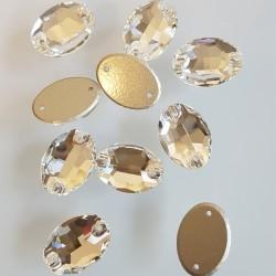 kámen našívací broušený ovál 11x16mm crystal 3210