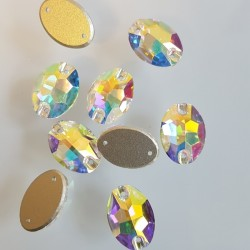 kámen našívací broušený AB ovál 11x16mm crystal 3210