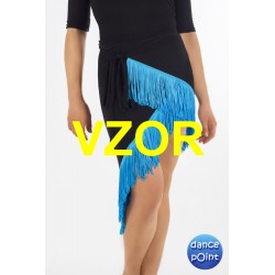 Skirt LA wrap fringed 13 rosa forte