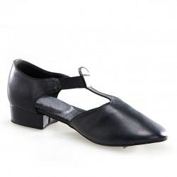HDS JAZZ sandál černá kůže 1cm