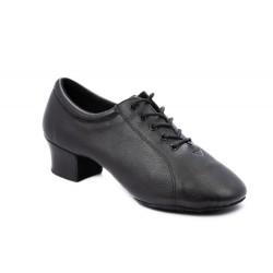 Pánské boty na latinu  HDS PLA003 černá Natůr - V kůže podpatek 3,5cm