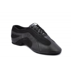HDS JAZZ black leather / black fabric 1cm