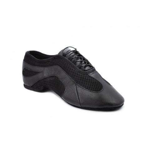 HDS JAZZ black leather / black fabric 1cm