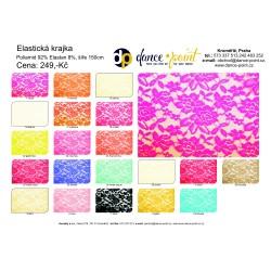 elastická krajka barevnice
