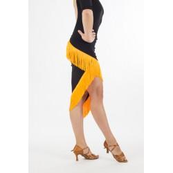 LA wrap skirt fringed 10 arancio
