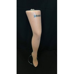 Fishnet tights with rhinestones - light toast
